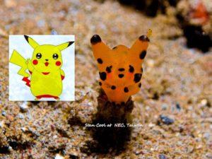 Babosa amarilla pikachú pokémon