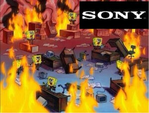 caos en sony bob esponja meme
