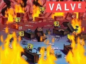 meme bob esponaje caos en valve