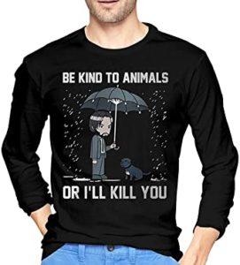 sudadera de john wick se amable con los animales o te mato