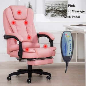 pink gamer massage chair