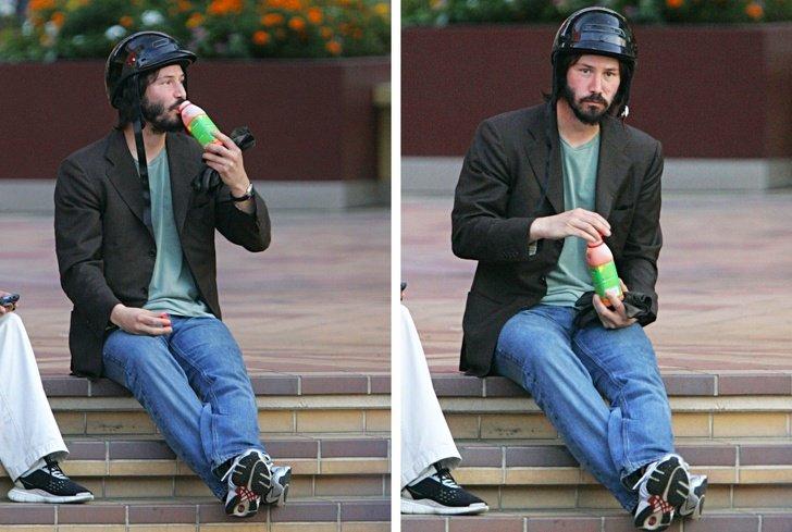 Keanu-Reeves comiendo