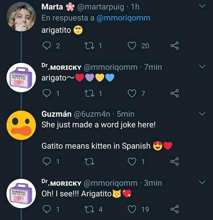 tweet arigatito