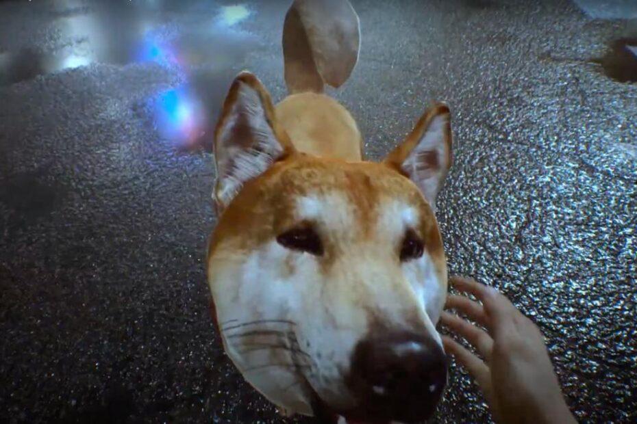 acariciar perrito ghostwire